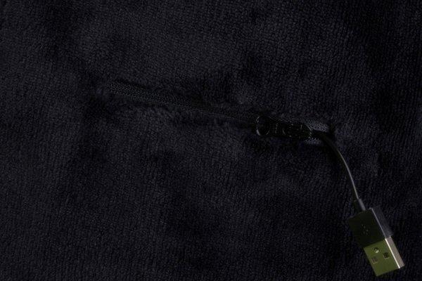 GLOVII GA1B Ogrzewany szalik kolor czarny