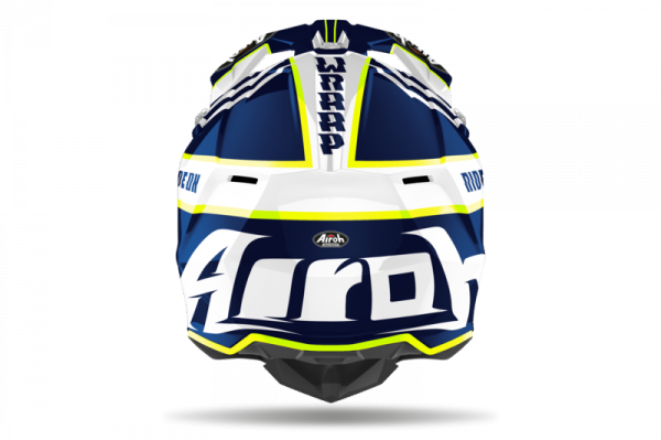 AIROH  KASK OFF-ROAD WRAAP BROKEN BLUE GLOSS
