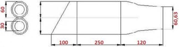 IXIL Tłumik HONDA CBR 500 R / CB 500 F  typ L3XB