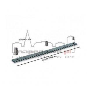 Stalowa listwa zębata (długość 1000mm, grubość 8 mm) + tuleje + śruby