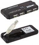 Hub USB Esperanza EA112 4xUSB 2.0 czarny