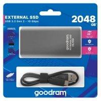 Dysk SSD zewnętrzny GOODRAM HL100 2TB USB-C (450/420) czarny