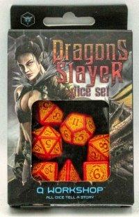 Zestaw kości - Dragon Slayer Red & Orange Dice Set