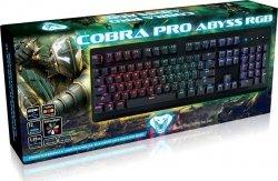 Klawiatura przewodowa Media-Tech MT1254 COBRA PRO ABYSS mechaniczna, RGB, Gaming