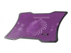 Natec podstawka do notebooka MACAW Purple 12,1''-15,6'' (cichy wentylator z LED)