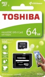 Karta pamięci MicroSDXC TOSHIBA M203 64GB UHS-I Class 10 + adapter