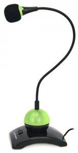 Mikrofon na podstawce Esperanza EH130, regulowane ramię zielony