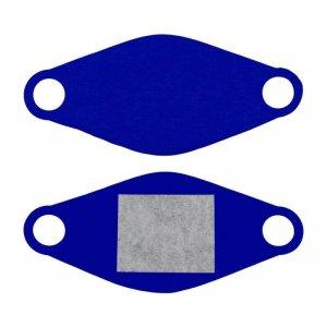 Maseczka ochronna wielorazowa z wymiennym wkładem Elmak MED-M02 niebieski
