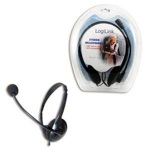 Słuchawki z mikrofonem LogiLink HS0001 multimedia stereo