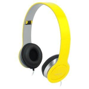 Słuchawki z mikrofonem LogiLink HS0030 stereo HQ, żółte
