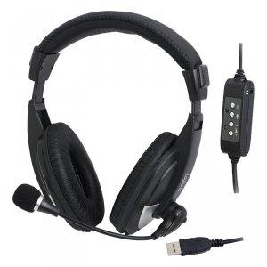 Słuchawki z mikrofonem LogiLink HS0019 USB, stereo