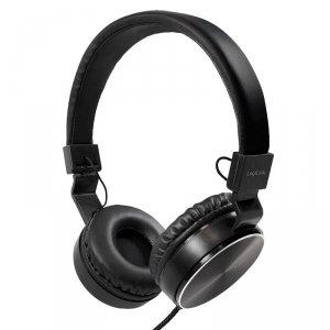 Słuchawki stereo LogiLink HS0049BK składane, czarne