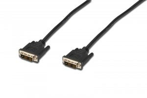 Kabel DVI DIGITUS AK-320107-020-S DVI-D SingleLink (18+1) M/M 2m czarny