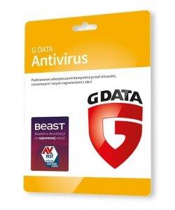G DATA Antivirus 2PC 2lata karta-klucz