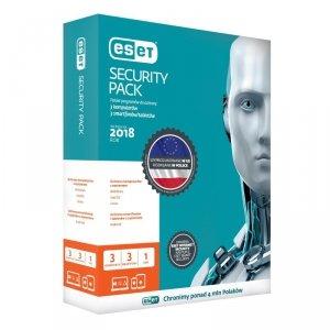 ESET Security Pack dla 3 komputerów i 3 urządzeń mobilnych - przedłużenie licencji, 24 m-cy, upg. BOX