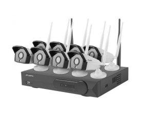Zestaw do monitoringu Lanberg ICS-0808-0013 rejestrator NVR 8 kanałowy WiFi + 8 kamery IP 1.3 Mpx z akcesoriami