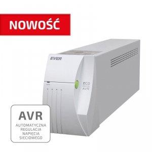 Zasilacz awaryjny UPS Ever ECO Pro 1000 Line-Interactive AVR CDS sinus 2 gniazda PL USB