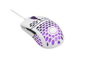 Mysz przewodowa Cooler Master MM711 optyczna 16000 DPI RGB matowa biała dla graczy