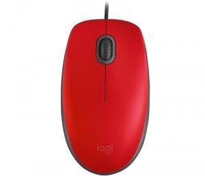 Mysz przewodowa Logitech M110 Silent optyczna czerwona