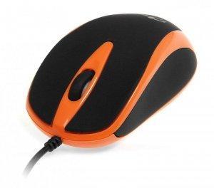 Mysz przewodowa Media-Tech PLANO MT1091O optyczna czarno-pomarańczowa