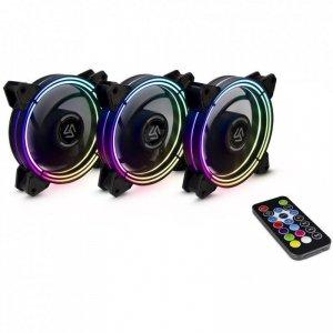 Zestaw wentylatorów Inter-Tech ALSEYE Halo 3.0 RGB