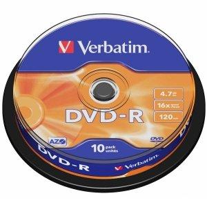 DVD-R VERBATIM 4.7GB  SPIN 10