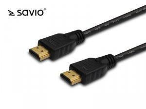 Kabel HDMI Savio CL-96 3m, OFC, złote końcówki, v2.0 4K 3D