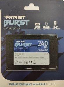 SSD 240GB 2.5'' SATA III read/write 560/540 MBps, 3D NAND Flash Patriot Burst