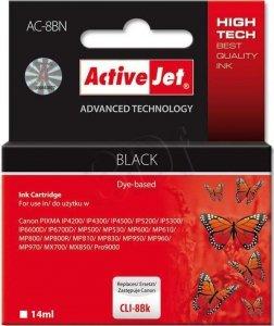 Tusz czarny do Canon (zastępuje Canon CLI-8Bk)(chip) ActiveJet AC-8BN