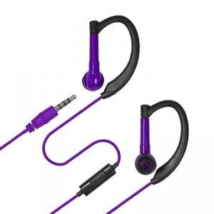 Słuchawki e5 Pro Active fioletowe