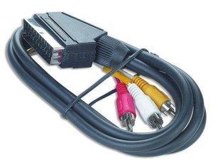 Kabel adapter EURO(SCART) - 3x RCA 1,8m