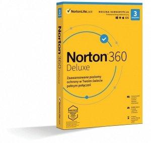 Oprogramowanie NORTON 360 Delux 25GB PL 1 użytkownik, 3 urządzenia, 1 rok