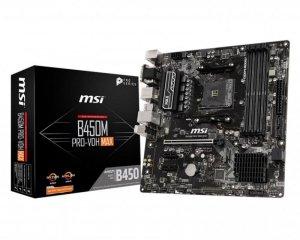Płyta MSI B450M PRO-VDH MAX/DDR4/M.2/USB3.1/<br />PCIe3.0/AM4/mATX