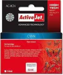 Tusz Cyan do Canon (zastępuje Canon CLI-8c)(chip) ActiveJet AC-8MN
