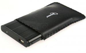Obudowa USB 2.0 na dysk 2.5 SATA czarna+ETUI, Gembird