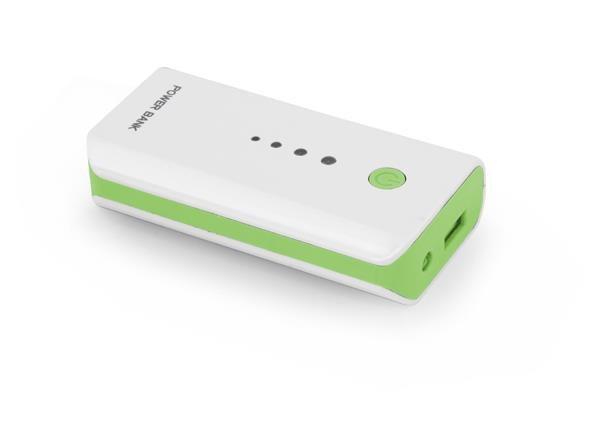 Powerbank Esperanza Electron 5200mAh biało-zielony