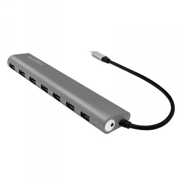 Hub USB-C 3.1 LogiLink UA0310 7 portów, aluminiowa obudowa