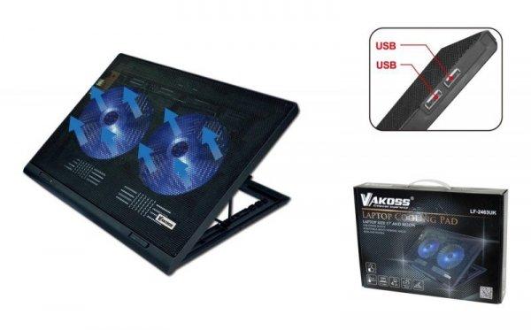 """Podstawka chłodząca pod notebooka VAKOSS max 17"""" LF-2463UK czarna"""