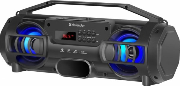 Głośnik Defender G104 Bluetooth 12W MP3/FM/SD/USB/TWS/LED czarny