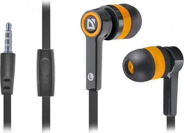 Słuchawki z mikrofonem Defender PULSE 420 douszne 4-pin czarno-pomarańczowe