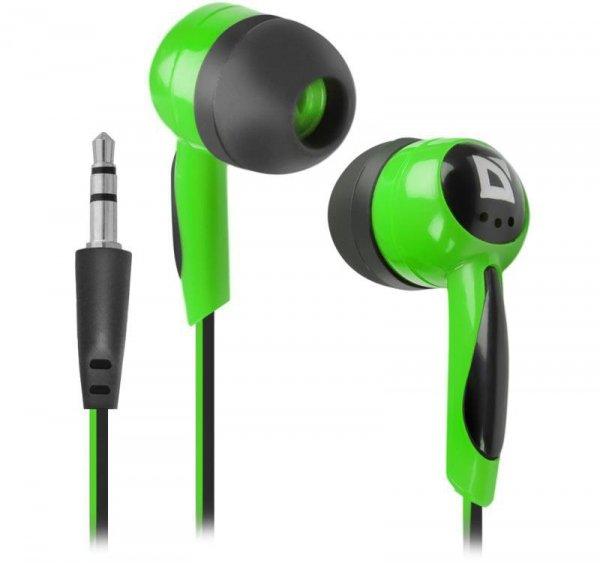 Słuchawki Defender BASIC 604 douszne czarno-zielone