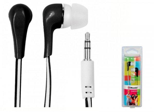 Słuchawki Msonic MH132EK czarno-białe