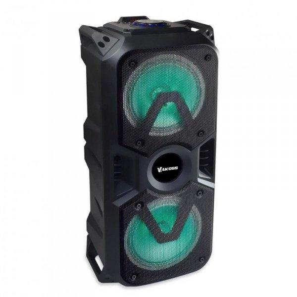 "Głośnik Bluetooth VAKOSS SP-2931BK 2x6,5"" Karaoke z Mikrofonem, RGB"