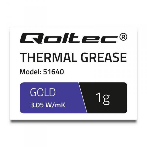 Pasta termoprzewodząca Qoltec 3.05 W/m-K   1g   złota