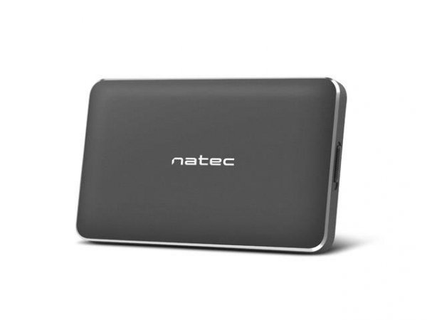 "Obudowa na dysk Natec Oyster Pro 2,5"" USB 3.0 aluminium czarna slim"