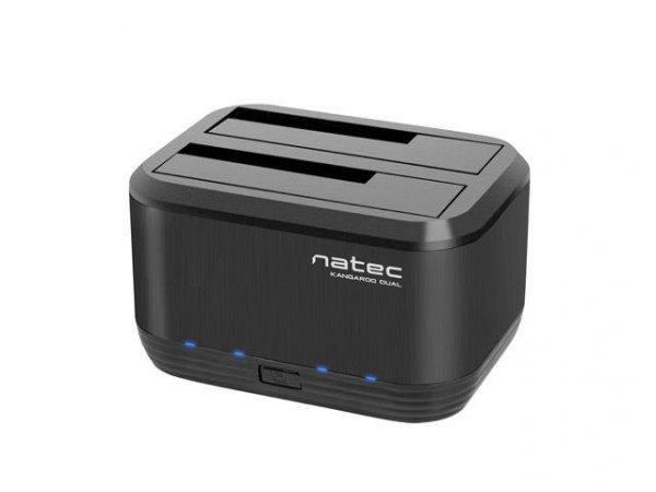"""Stacja dokująca HDD/SSD Natec Kangaroo Dual SATA 2.5"""" + 3.5"""" USB 3.0 + zasilacz"""