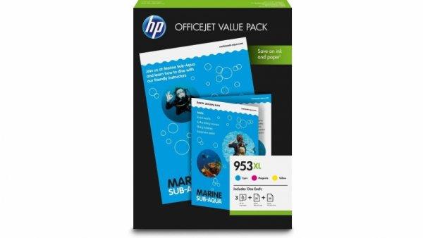 Zestaw tuszów HP 953XL CMY (1CC21AE)