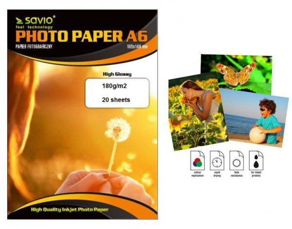 Papier fotograficzny Savio PA-05  A6 210g/m2 50 szt. błysk