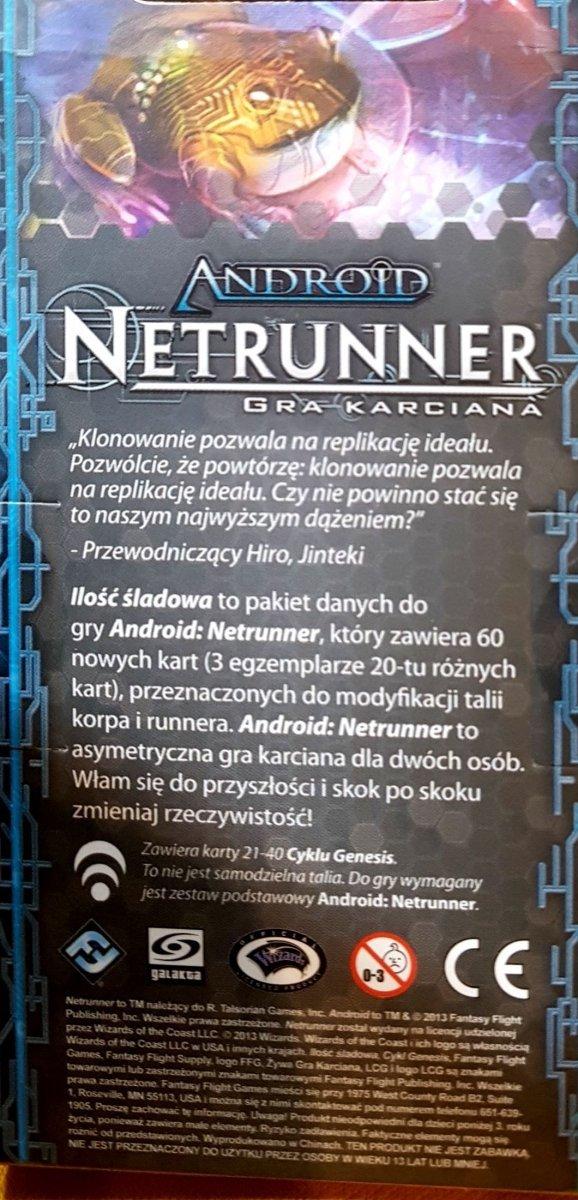 ANDROID: NETRUNNER CYKL GENESIS ILOŚĆ ŚLADOWA PL