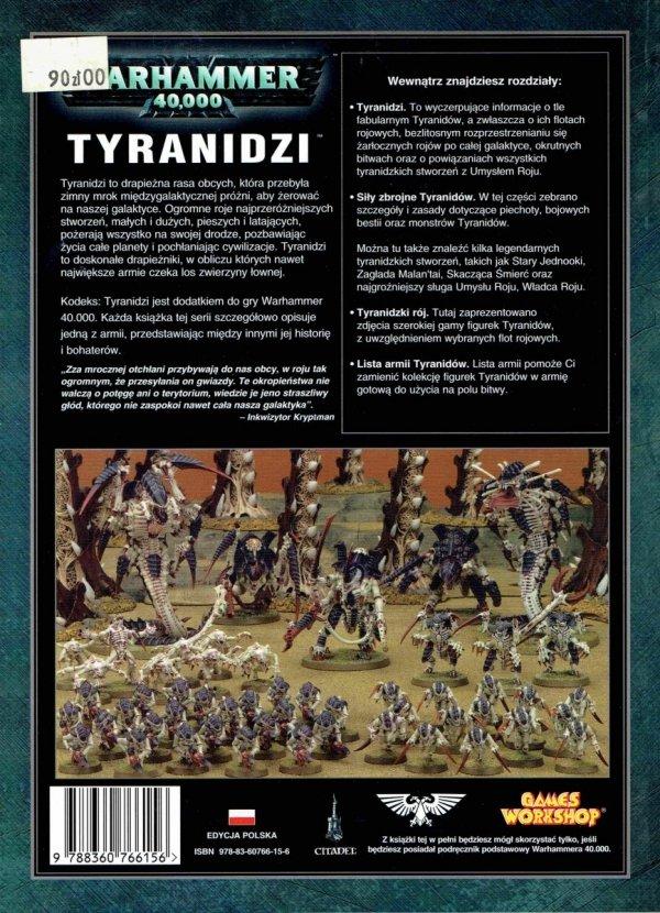 W40k Kodeks Tyranidzi tył okładki